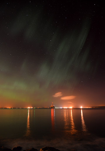 Northern Lights over the Cromarty Firth